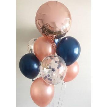 Μπουκέτο με Μπαλόνια Latex 11' και 1 Foil Στρογγυλό 18'