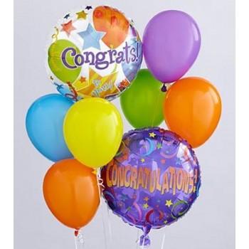 Μπαλόνια Congratulation Foil 18' και  Latex 12' με Ήλιον