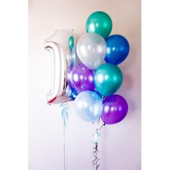 Μπουκέτο με Μπαλόνια Latex 11' και Νούμερο.
