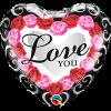 Μπαλόνι Foil 18' I Love You με Ήλιον - Τριαντάφυλλα +10,00€