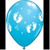 Μπαλόνι Πατουσάκια γαλάζιο με Ήλιον +2,50€