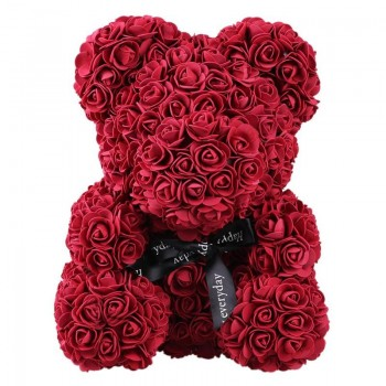 Beauty And The Beast Small Teddy Bear Bordo Roses